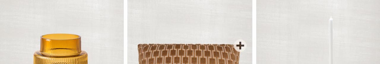 JOSH V Home - Frior decorative cushion claudi 50 x 50 cm gold