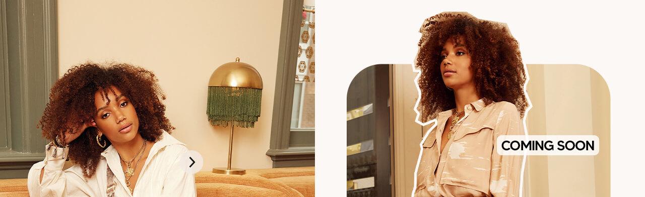 JOSH V Summer '21 - Renewed energy - Leena blouse Nougat Cream