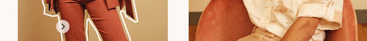 JOSH V Summer '21 - Renewed energy - Jaz pants Red Clay