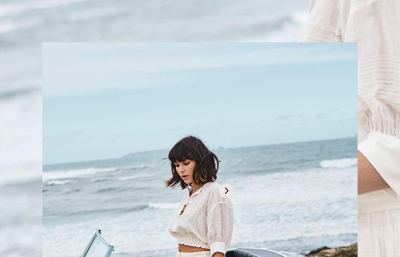 JOSH V Summer '21 - Almost time - Juliana blouse whisper white