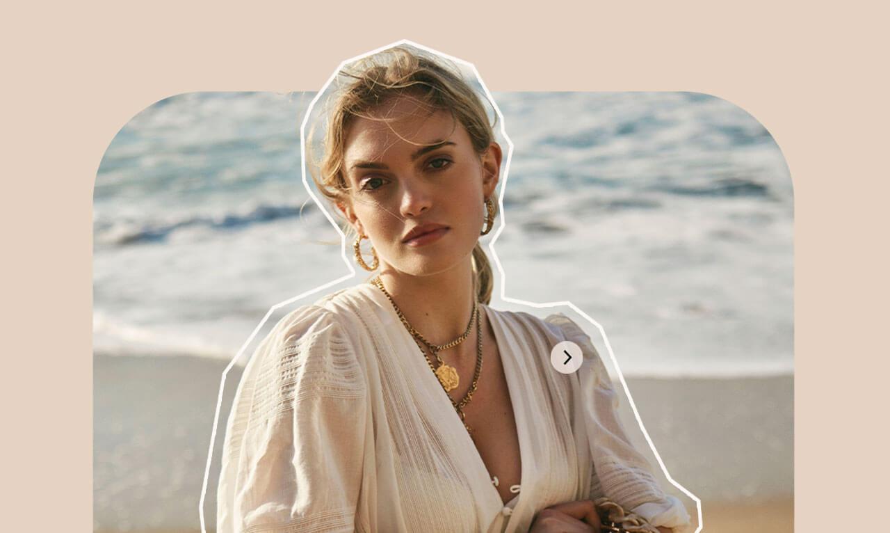 JOSH V Summer '21 - Almost time - Joelle dress whisper white